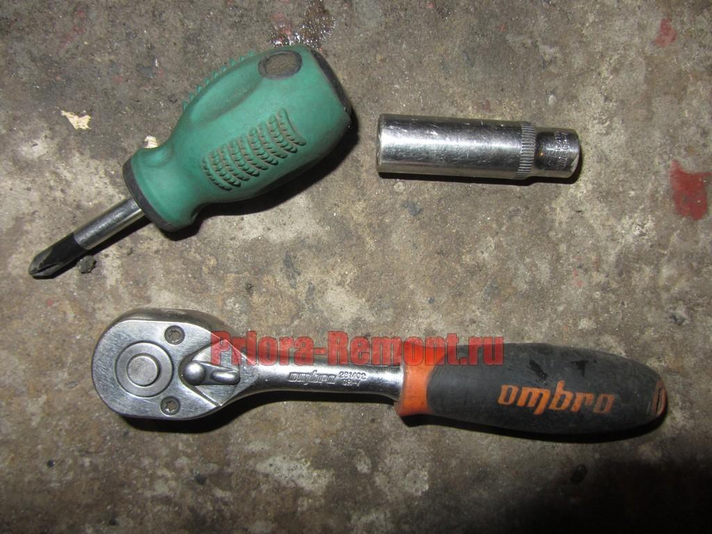 инструмент для снятия переднего бампера на Приоре