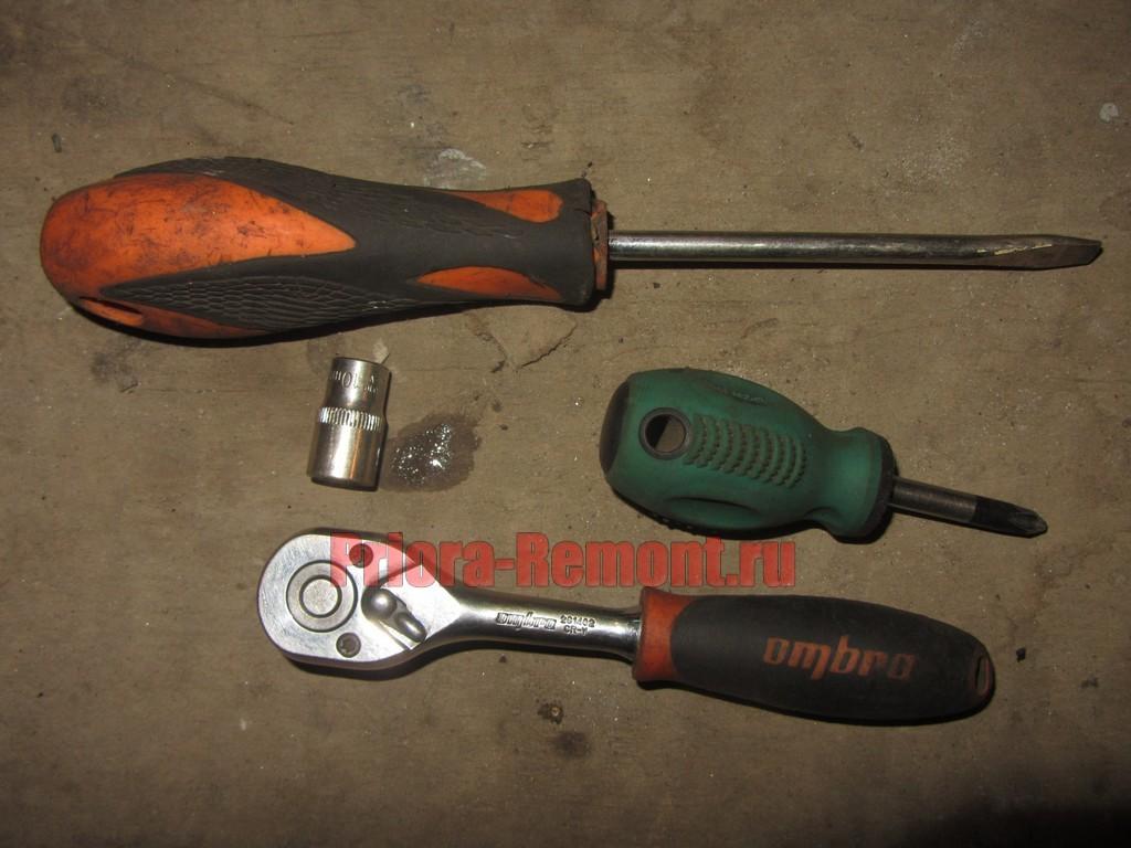 ключи для замены воздухана на Приоре