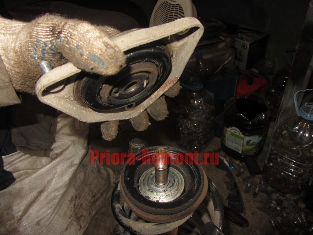 Замена опорный подшипник ваз 2114 своими руками