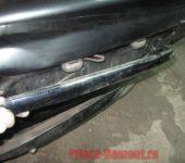 замена задней сабли багажника на Приоре