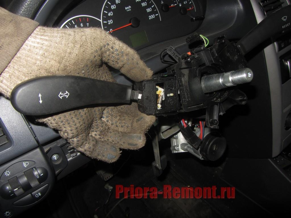 Замена рычага переключателя поворотника qx56 Замена рулевой трапеции пассат